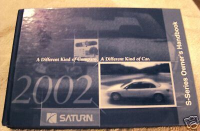 **NEW** 2002 Saturn S-Series Owners Manual Set 02