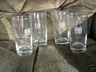 Avon Centennial Award Glasses-New-Set Of Four