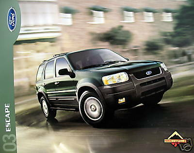 2003 Ford Escape SUV new vehicle brochure - MIDYEAR