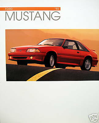 1993 Ford Mustang new vehicle brochure