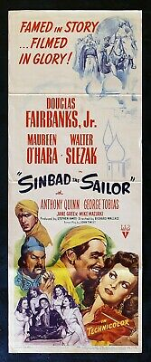 Sinbad The Sailor * Movie Poster Insert Classic 1946