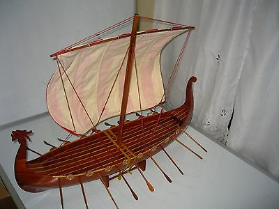 Viking Dragon boat high quality hand made wooden model ship 32""