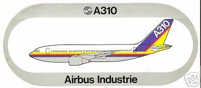 Airbus Sticker Airbus Industrie A310,old housecolour