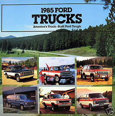 1985 Ford Trucks Full-Line new vehicle brochure