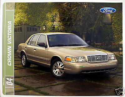2004 Ford Crown Victoria new vehicle brochure - MIDYEAR