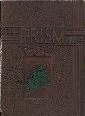 College Yearbook University Of Maine Orono Maine ME Prism 1934