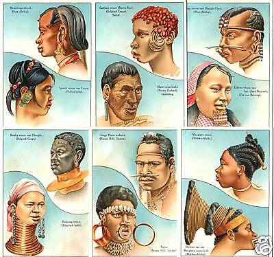 XXX-RARE EARLY 20TH CENT DUTCH COLONIAL TRADE CARDS w BLACK ETHNIC/TRIBAL TYPES