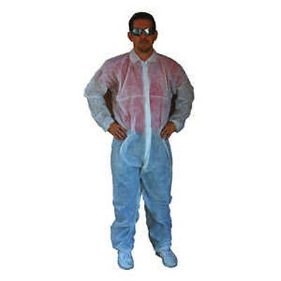 Large Hooded Disposible Poly Coveralls Plastic Suit