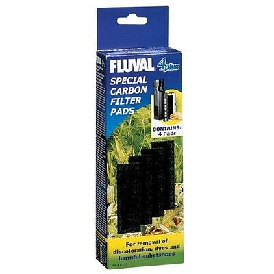 Fluval 4 + Plus Carbon Pads Genuine Product Pack of 4 X3