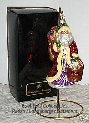 Longaberger / RADKO 1999 FATHER CHRISTMAS Ornament 1ST
