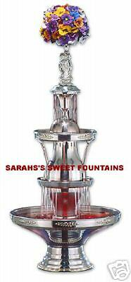 "46"" Apex Golden Anniversary Starlight Beverage Fountain 5 Gallon Silver Trim"