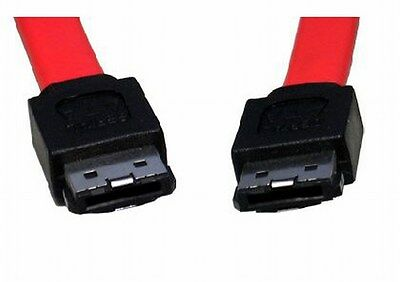 2m e-SATA TO eSATA Data Cable EXTERNAL SHIELDED Lead UK
