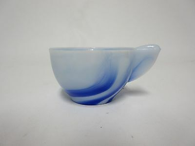 Akro Blue/White Marbelized Large Interior Panel Child Tea Set CUP / 7 Available