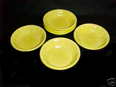 Akro Agate Large Interior Panel Opaque Yellow BOWLS / Children's Dishes / HTF