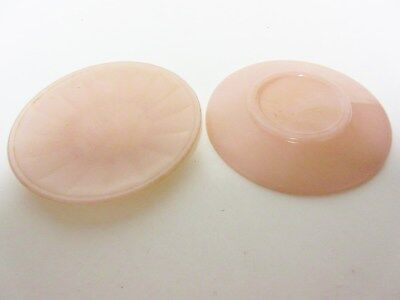 Akro Agate Large Interior Panel Child's Opaque PINK PLATE (S) / 12 Available
