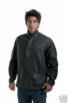 NEW Tillman ONYX Black Leather Welding Jacket 3930 LG