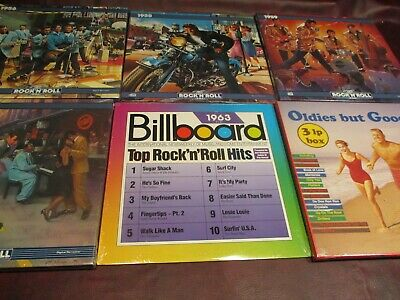 RARE ROCK N ROLL BOX SETS AND DOUBLE LP REMEMBERING HITS 1956-60 Sealed 11 LP's