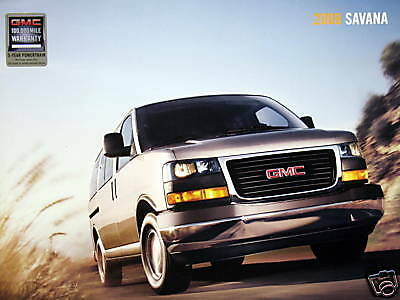 2008 GMC Savana passenger van new vehicle brochure