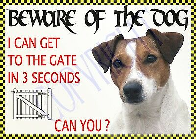 x BEWARE JACK RUSSELL NOVELTY DOG SIGN