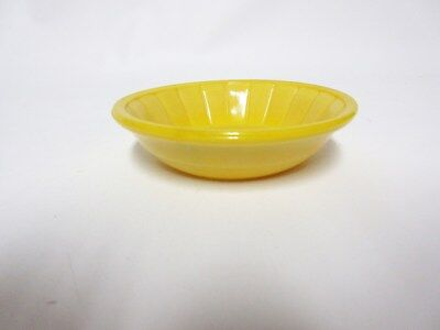 Akro Agate Large Stacked Disc & Panel Opaque Yellow BOWL (S) VHTF / 5 Available