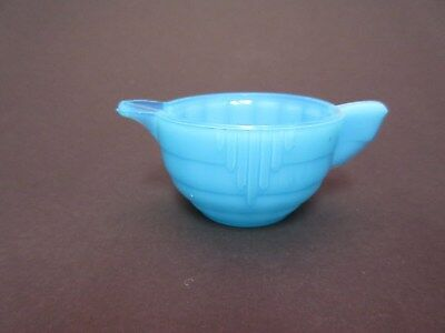 Akro Agate Large Stacked Disc & Panel Opaque Bright Turquoise CREAMER