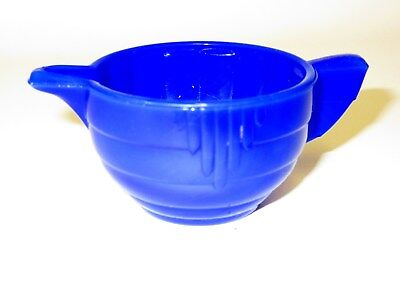 Akro Agate Large Stacked Disc & Panel Opaque Royal Blue CREAMER