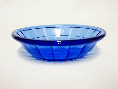 Akro Agate Large Stacked Disc & Panel Transparent Blue Bowls