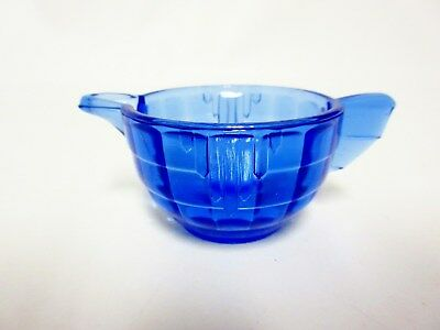 Akro Agate Large Stacked Disc & Panel Transparent Blue CREAMER
