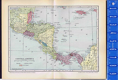 Central America Vintage Color Map