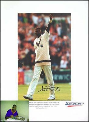 Curtly Ambrose signed limited edition print