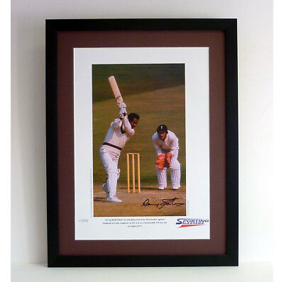 Gary Sobers signed & framed limited edition print