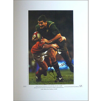 Joost van der Westhuizen signed limited edition print