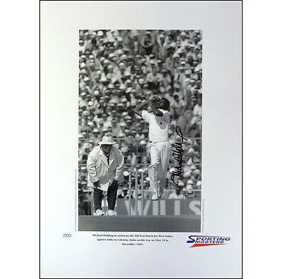 Michael Holding signed limited edition print
