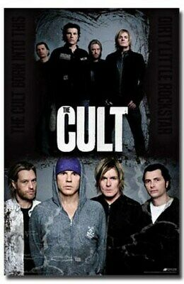 THE CULT POSTER Amazing Group Shot RARE HOT NEW 24X36