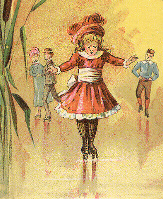 Meacham Arms Co * Henleys Roller Skates Trade Card * Outstanding & Old * Tc1923