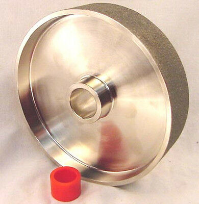 "BUTW 8"" x 1 1/2"" wide 60 grit textured diamond lapidary grinding wheel"