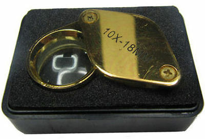 Rdgtools Single Lense Round Eye Loupe With 10 X Magnifier Gold