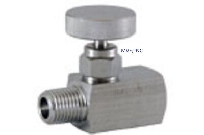 "Needle Valve Mini 1/4"" MNPT x 1/4"" FNPT 6,000 PSI Stainless Metal Seats <551IN05"