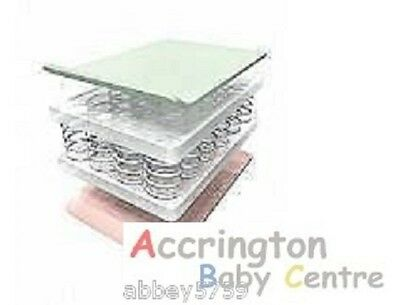 Thick FULLY SPRUNG MATTRESS COT BED SPRING COTBED 140 x 70 x 13 fully breathable