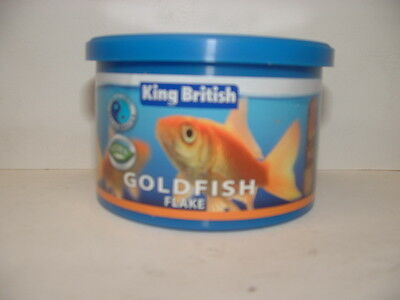 KING BRITISH GOLDFISH FLAKE FOOD 28g Aquarium Fish