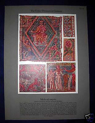 Medieval Carpet Germany Ornament Chromolithograph