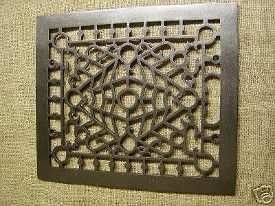 Vintage Cast Iron Register Grate Antique Grates ^