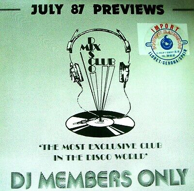 LP - DISCO MIX CLUB - July 87 Previews (Various Dance Hits Compilation) New