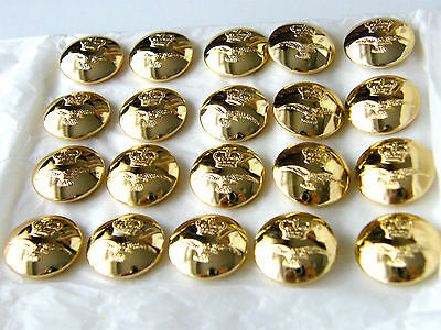 20 x ROYAL AIR FORCE SET - ARMY BUTTONS