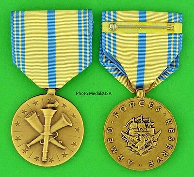 Armed Forces Reserve Medal Navy - Made in the USA - full size - USN USM098