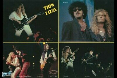 THIN LIZZY POSTER Live on Stage Collage RARE HOT NEW