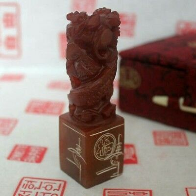 Custom Chinese Seal Carving-Name Chop: Double DRAGON