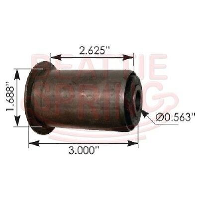 Chevy GMC rear leaf spring bushing RB172