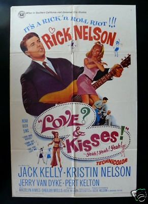 Love And Kisses *1Sh Orig Movie Poster 1965 Rick Nelson