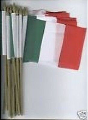 """12-Small .4""""x6""""in. Flags of Italy with Spike Tips"""